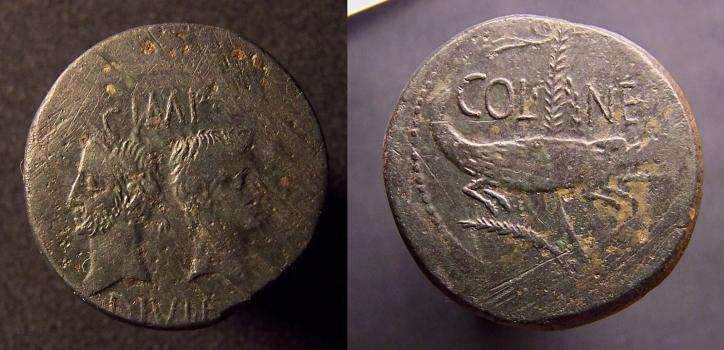 As et dupondius de Nîmes 14,02g_30mm_5h_cp_rz