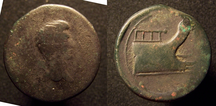 Bronze anépigraphe d'Octave (RPC 5416) 18,69g_29mm_12h_cp